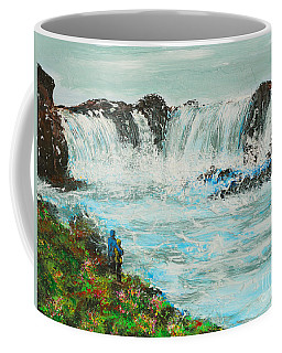 Honeymoon At Godafoss Coffee Mug by Alys Caviness-Gober