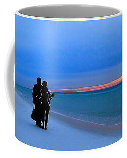 Honeymooners At Dawn On Pensacola Beach Coffee Mug
