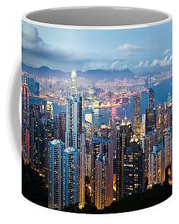 Hong Kong At Dusk Coffee Mug