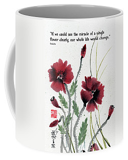 Coffee Mug featuring the painting Honor With Buddha Quote I by Bill Searle