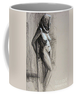 Coffee Mug featuring the drawing Hood by Gabrielle Wilson-Sealy