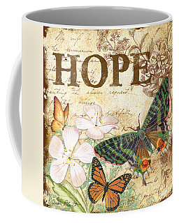 Hope And Butterflies Coffee Mug by Jean Plout