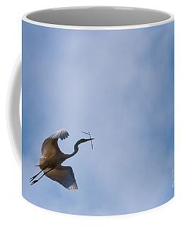 Hopeful Egret Building A Home  Coffee Mug