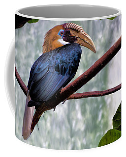 Hornbill In Paradise Coffee Mug by Adam Olsen