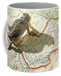 Horned Toad Walking Across Texas Map Coffee Mug