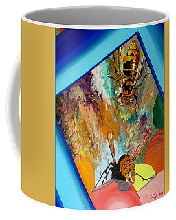 Coffee Mug featuring the painting Hornets by Daniel Janda