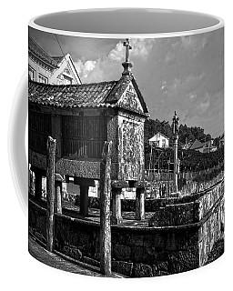 Horreo And Cruceiro In Galicia Bw Coffee Mug