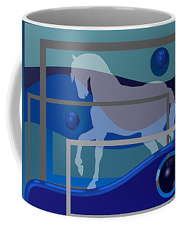 Horse And Blue Balls Coffee Mug