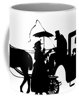 Horse And Carriage Silhouette Coffee Mug
