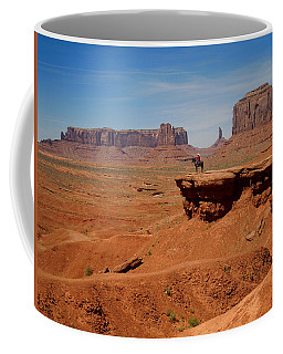 Horse And Rider In Monument Valley Coffee Mug