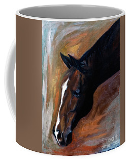 Coffee Mug featuring the painting horse - Apple copper by Go Van Kampen