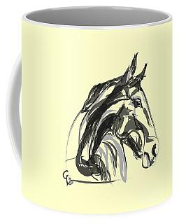 Coffee Mug featuring the painting horse - Apple digital by Go Van Kampen