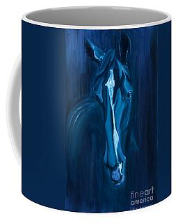 horse - Apple indigo Coffee Mug