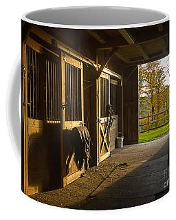 Horse Barn Sunset Coffee Mug