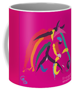 Horse - Colour Me Strong Coffee Mug by Go Van Kampen