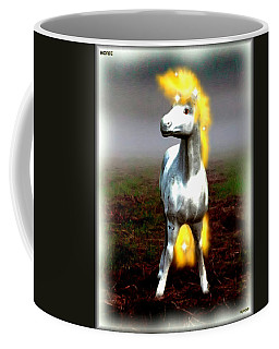 Coffee Mug featuring the digital art Horse by Daniel Janda