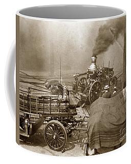 Horse Drawn Water Steam Pumper Fire Truck Circa 1906 Coffee Mug
