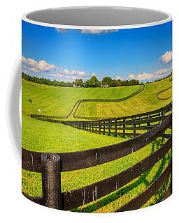 Horse Farm Fences Coffee Mug by Alexey Stiop