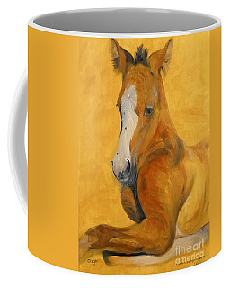 Coffee Mug featuring the painting horse - Gogh by Go Van Kampen