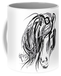 Horse- Hair And Horse Coffee Mug