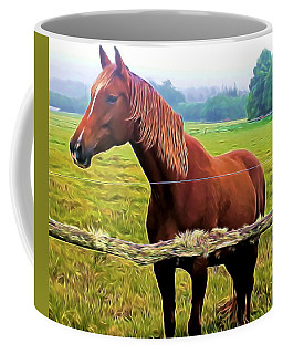 Horse In The Pasture Coffee Mug