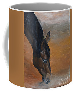 Coffee Mug featuring the painting horse - Lily by Go Van Kampen