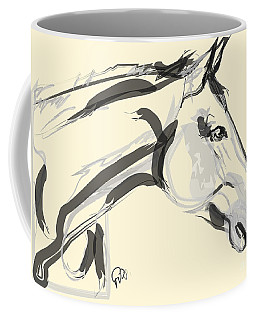 Coffee Mug featuring the painting Horse - Lovely by Go Van Kampen
