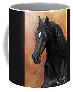Coffee Mug featuring the painting Horse - Lucky Star by Go Van Kampen