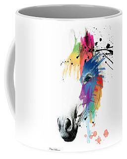 Horse On Abstract   Coffee Mug