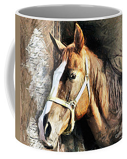 Horse Portrait - Drawing Coffee Mug