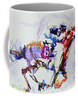 Horse Racing Print Coffee Mug