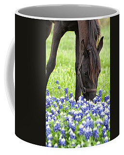 Horse With Bluebonnets Coffee Mug