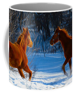 Horses At Play Coffee Mug