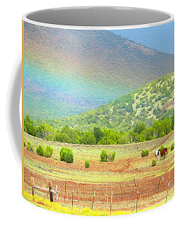Horses At The End Of The Rainbow Coffee Mug