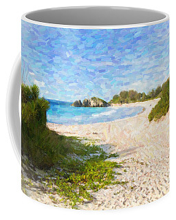 Coffee Mug featuring the photograph Horseshoe Bay In Bermuda by Verena Matthew