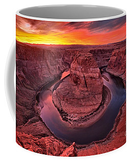 Horseshoe Bend Sunset Coffee Mug