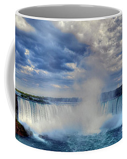 Coffee Mug featuring the photograph Horseshoe Falls by Mel Steinhauer