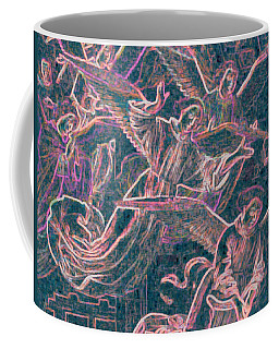 Coffee Mug featuring the digital art Host Of Angels Pink by First Star Art