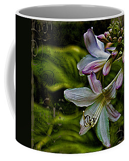 Hosta Lilies With Texture Coffee Mug