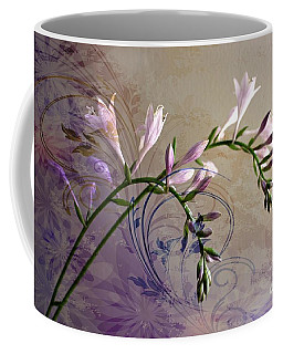 Coffee Mug featuring the photograph Hosta Soft Delicate And Elegant by Judy Palkimas