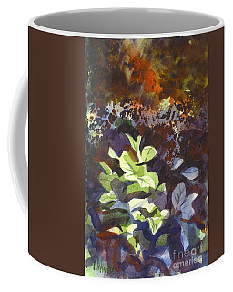 Coffee Mug featuring the painting Hostas In The Forest by Kip DeVore