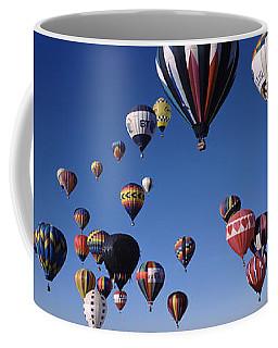 Hot Air Balloons Floating In Sky Coffee Mug