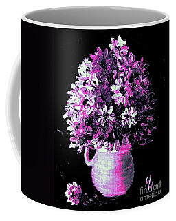 Hot Pink Flowers Coffee Mug by Hazel Holland