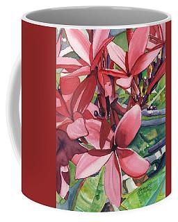 Hot Pink Plumeria Coffee Mug