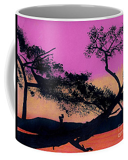 Coffee Mug featuring the drawing Hot Pink Sunset by D Hackett