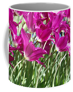 Coffee Mug featuring the photograph Hot Pink Tulips 2 by Allen Beatty