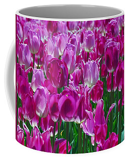 Hot Pink Tulips 3 Coffee Mug by Allen Beatty