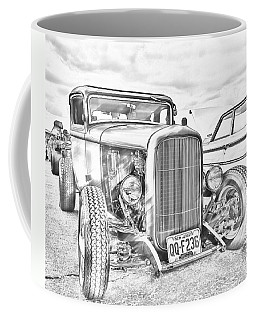 Hot Rod Faux Sketch Coffee Mug