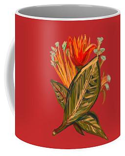 Coffee Mug featuring the digital art Hot Tulip R by Christine Fournier
