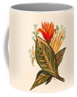 Coffee Mug featuring the digital art Hot Tulip Spring by Christine Fournier